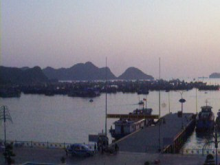 Cat Ba harbour from Balcony
