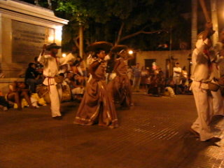 Dancing in the middle of Cartagena