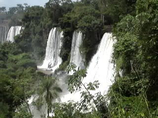 Province of Misiones, Arjantin: Iguazu Falls nice panoramic video