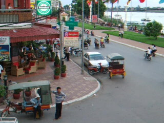 FCC Phnom Penh: Street Scene View From The FCC, Phnom Ph