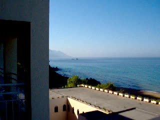 Glyfada, Grecia: The view from our room