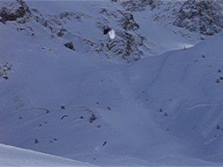 La Grave, ฝรั่งเศส: Kite skier video