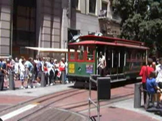 San Francisco cable car ride