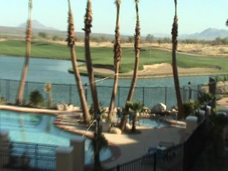 Wyndham Canoa Ranch Resort : Balcony, Pool, Mountains and 18th Green