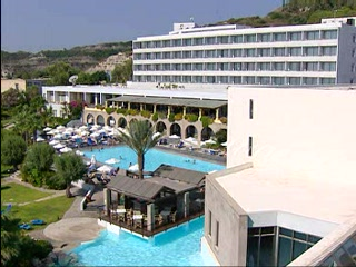 Dodecanese, Grecia: Thomson.co.uk video of the RHODOS ROYAL in KALITHEA RHO, Rhodes