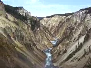 Wyoming: 2-Brink of Lower Falls, Yellowstone