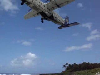 Ofu, American Samoa: The plane, taking off