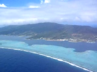 Tahiti, Frans-Polynesië: Arrival flight on Raiatea ( with a view of Taha'a)