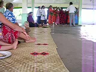 Tuvalu: Choir singing on Nanumea