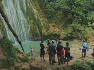 Samana Province, Den Dominikanske Republik: El Limon Waterfall