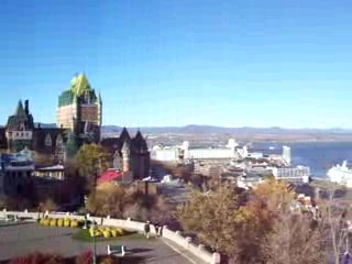 Quebec city Pan from top of the hill