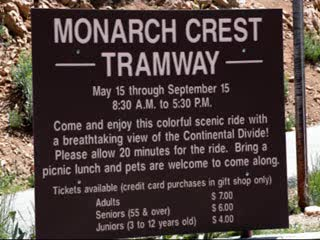 Salida, CO : Monarch Crest Tramway