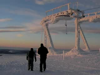 Akaslompolo, Finland: Top of Yllas fell