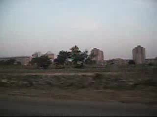 Abuja, Nigeria: View out The Window on the Way To The Sakura