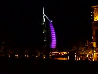 Burj Al Arab Jumeirah: Burj Al Arab at night