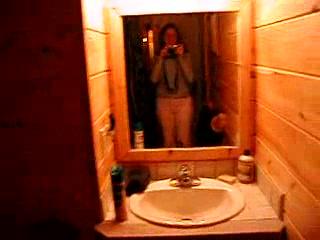 Moosehead Hills Cabins: First floor bathroom