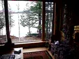 Moosehead Hills Cabins: First floor of Sunrise Lodge on Loon Lake