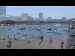 Лас-Пальмас-де-Гран-Канария, Испания: Playa de las Canteras in Las Palmas de Gran Canaria