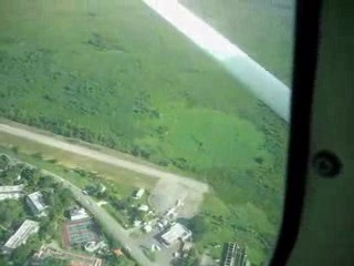Flight on TimAir from Montego Bay to Negril