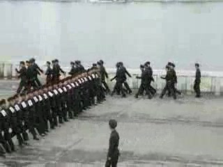 Pyongyang, North Korea: Marching Soldiers