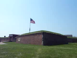Fort McHenry National Monument : Star Spangled Banner at Fort McHenry