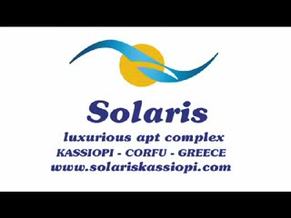 Solaris hotel-apartment in the lovely kassiopi village of Corfu