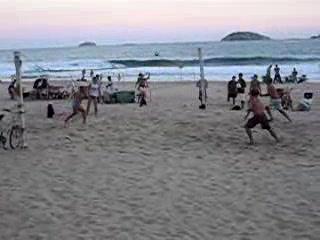 Foot-volley at Ipanema Beach