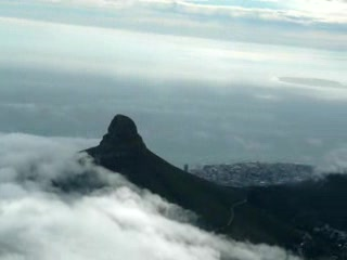 Pan shot up Table mountain