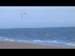 Kite Surfing at Praia de Faro