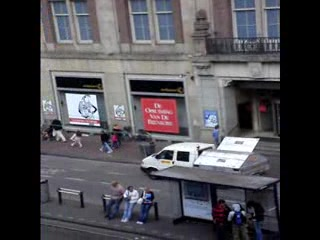 Hotel Amsterdam - De Roode Leeuw: View from our Hotel Room