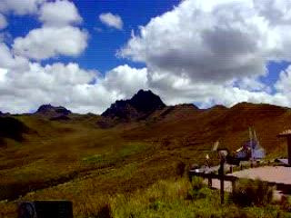 Cruz Lama, altitude 4,100 m, Quito, Ecuador