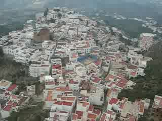 Flyover of Mojacar village