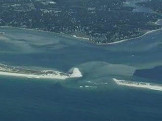 Massachusetts : Aerial Video of the New Chatham Break