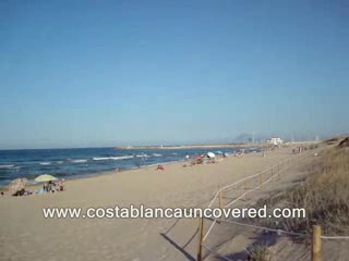 Beaches in Oliva Playa, Costa Azahar, Spain.