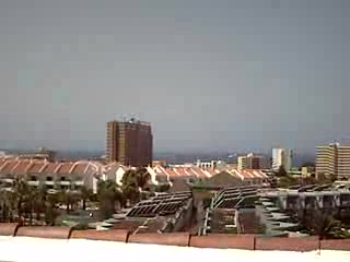 Los Cristianos, Espagne : from roof top of aguamar