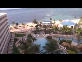 Melia Nassau Beach - All Inclusive : Overview of beach and pools at Sheraton Cable beach