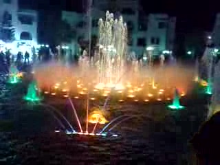 Port El Kantaoui, Tunisien: Musical fountain