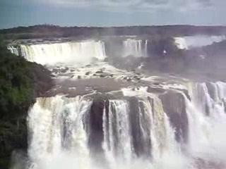 Foz do Iguacu, PR: Panoramic view of the falls