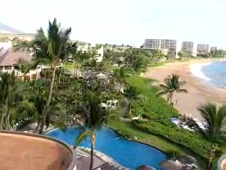 Sheraton Maui Resort & Spa: View from Sheraton Maui of grounds and Kaanapali Beach
