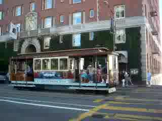 The Scarlet Huntington: Cable Car Service in front of the Huntington Hotel in San Francisco