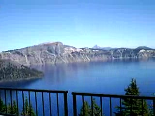 Parque Nacional del Lago del Cráter, Oregón: Crater Lake Lodge Rear Porch