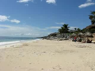 Cabanas Copal: The Beach at Copal in Tulum, Mexico
