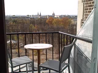 The Westin Paris - Vendome: Balcony at Westin Paris with view of Eiffel Tower and Louvre
