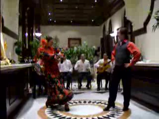 Sevilla, Spanje: Beginning of Flamenco Dance