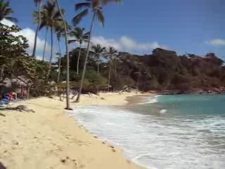One of the private beaches