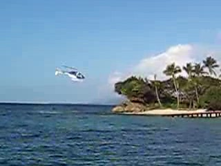 Luxury Bahia Principe Cayo Levantado Don Pablo Collection: Helicopter landing on the public part of the island