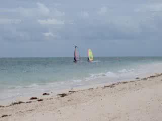Playa Santa Lucia, Cuba: windsurfing at Santa Lucia, Cuba