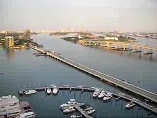 Майами, Флорида: Venetian Causeway Aereal View