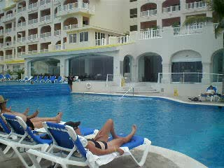 Cozumel Palace pool and deck