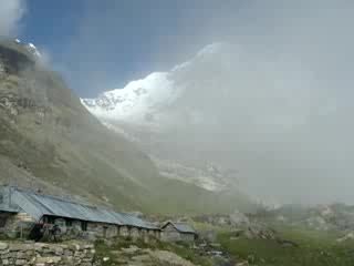 Káthmandu, Nepál: Morning at Annapurna Base Camp